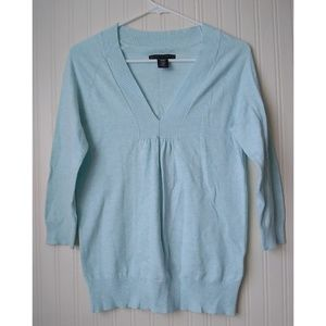 Apostrophe Light Blue V-Neck Sweater